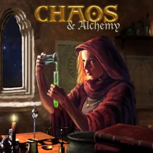The awesome first edition Chaos & Alchemy cover art by Chris Rallis