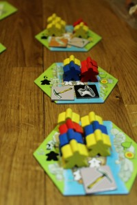 Keyflower meeples - Photo courtesy of Meoples Magazine