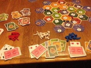 A solo playtest of Clay Crucible Settlers in action