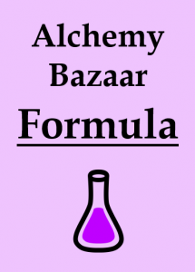 Alchemy Bazaar Formula Card Back